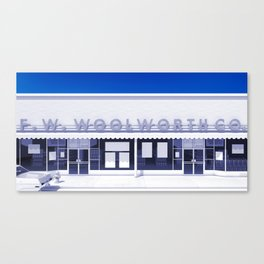 F.W. Woolworth All White Canvas Print