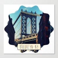 brooklyn Canvas Prints featuring BROOKLYN by Alexandre Ormond