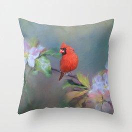 Cardinal Morning Throw Pillow