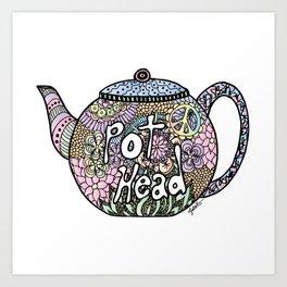 Tea Pot Head Art Print