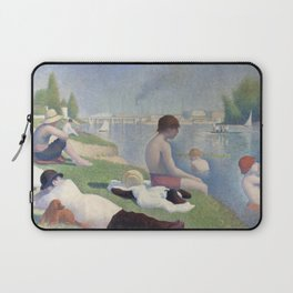 Bathers in Asnieres by Georges Seurat, 1884 Laptop Sleeve