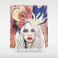 warrior Shower Curtains featuring Warrior by Lisa Ferrante