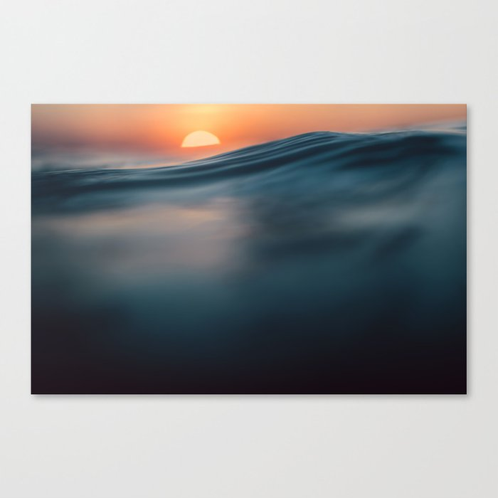 Mexico Surf Sunset Canvas Print