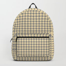 Grey Beige Houndstooth Pattern Backpack
