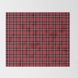 Red & Black Tartan Plaid Pattern Throw Blanket