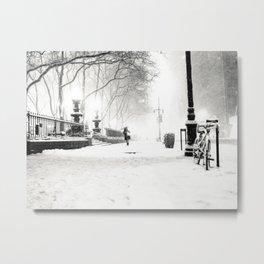 Snow - New York City - Bryant Park Metal Print
