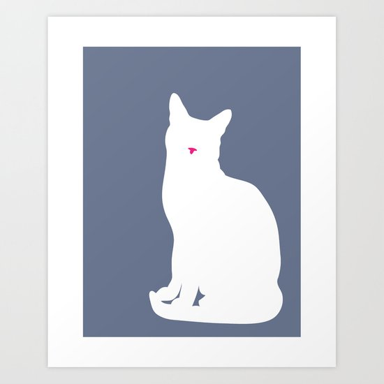 Cat Silhouettes: Russian Blue Art Print