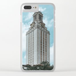 Beautiful day on UT campus Clear iPhone Case