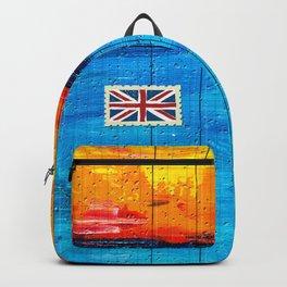 Backpack Firestorm Over Water with UK Flag Backpack