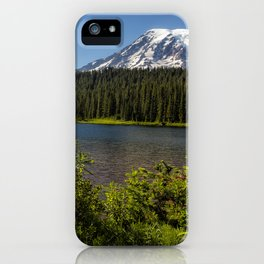 Wildlflower Color by Reflection Lake and Mt Rainier, No. 1 iPhone Case