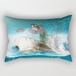 Funny crab Rectangular Pillow