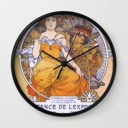 Alfons Mucha - St. Louis World Exposition - Digital Remastered Edition Wall Clock