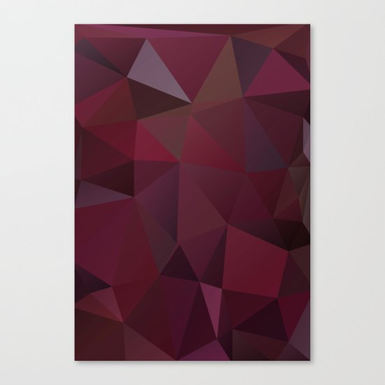 Abstract background of triangles polygon design red marsala colors Canvas Print