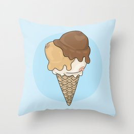 Cold Treats - Cone Throw Pillow