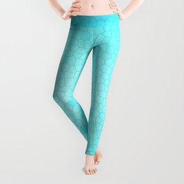 Glare on the water. Abstract Stained glass blue Leggings