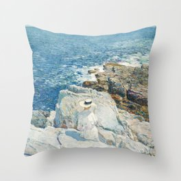 The South Ledges, Appledore by Childe Hassam Throw Pillow