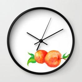 Two Peaches Wall Clock