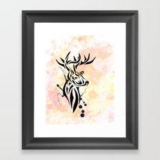 Stag Tribal  Framed Art Print
