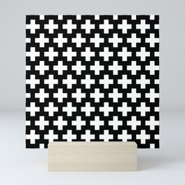 Swiss Cross W&B Mini Art Print