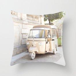 Parisian Tuktuk Throw Pillow
