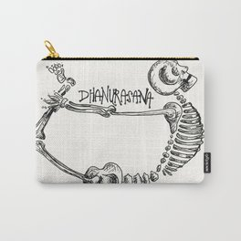 """Dhanurasana"" Skeleton Print Carry-All Pouch"