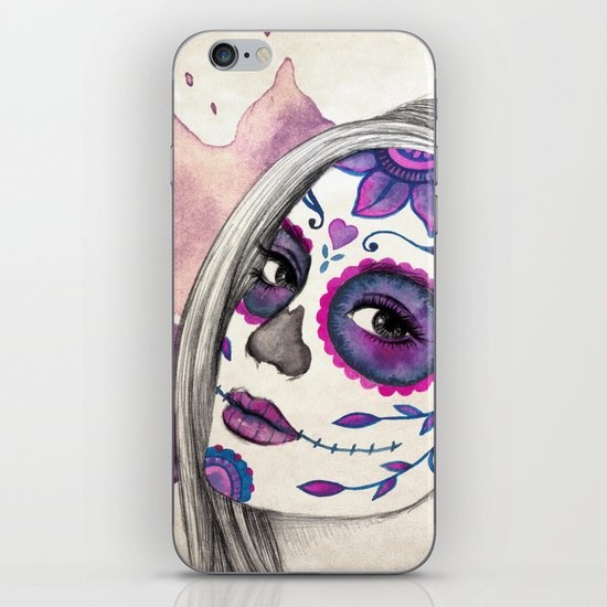 Sugar Skull Girl iPhone & iPod Skin