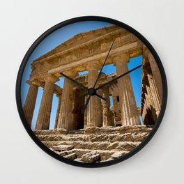 Greece ruined  temple Wall Clock