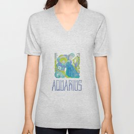 Aquarius- air sign Unisex V-Neck