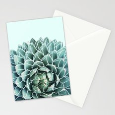 Succulent splendour - aquatic mist Stationery Cards