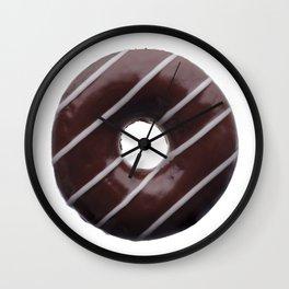 Dark chocolate donut Wall Clock