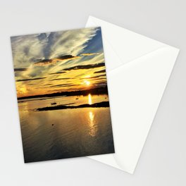 Summer Sunset in Kennebunkport, Maine Stationery Cards