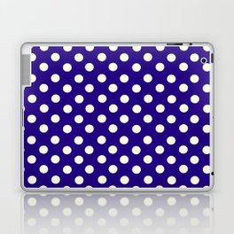 Polka Dot Party in Blue and White Laptop & iPad Skin