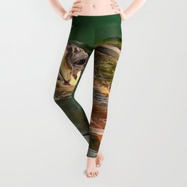 Hands Up For A Plastic Free Ocean Loggerhead Turtle Leggings