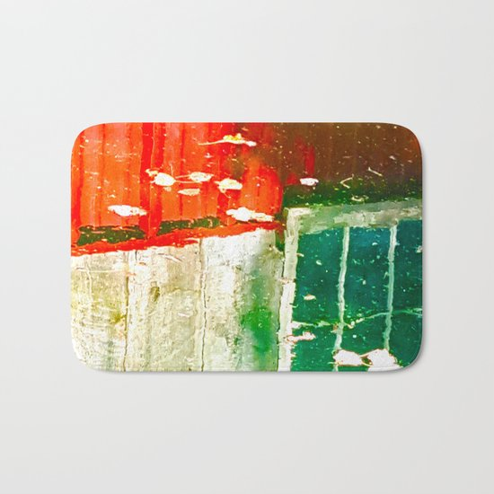 City Aflame and Drowning Bath Mat
