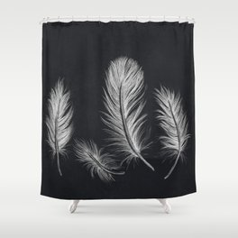 Chalk feather collection Shower Curtain