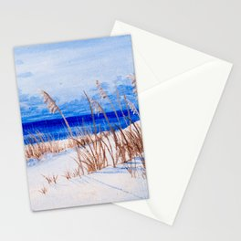 Sea oats at the beach Stationery Cards