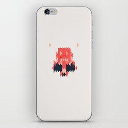 Pink Skull iPhone Skin