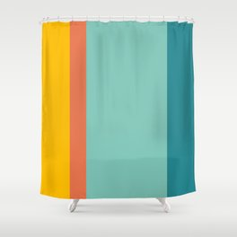 Retro Hot and Cold #retro #colors Shower Curtain