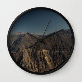 Panorama of Colca Canyon, Peru Wall Clock