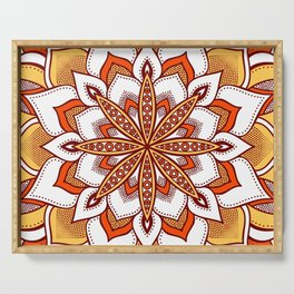 Mandala Flower : Orange Serving Tray