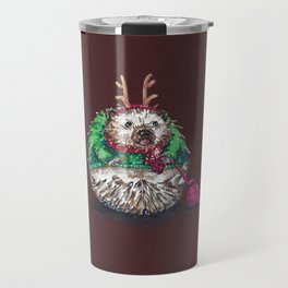Holiday Sweater Crochet Critter Travel Mug