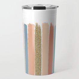Mariko - Brushstroke, Painterly, painted, paint, summer, 70s colors  Travel Mug