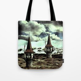 Lighthouses at sea Tote Bag