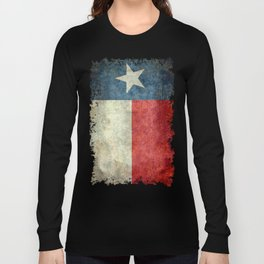 Texas flag, Grungy Vertical Banner Long Sleeve T-shirt