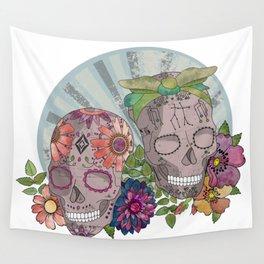 Gemini Skull Wall Tapestry