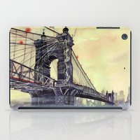 cincinnati iPad Cases featuring Cincinnati by takmaj