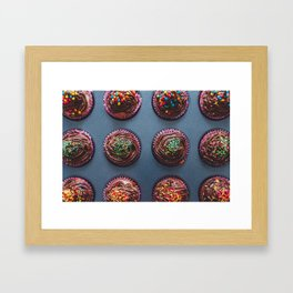 Cupcakes #society6 #decor #buyart Framed Art Print