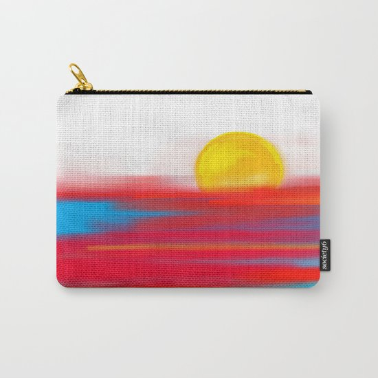 Sketchy Sun and Sea. Sunset and Sunrise Sketch Carry-All Pouch