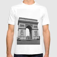 Arc de Triomphe Noir MEDIUM Mens Fitted Tee White