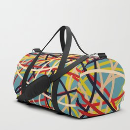 Colored Line Chaos #2 Duffle Bag